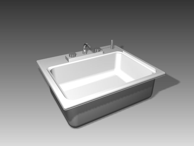 Bathroom -Bathtub 005 3D Model