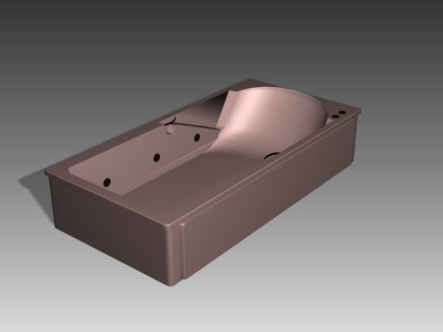 Bathroom -Bathtub 006 3D Model