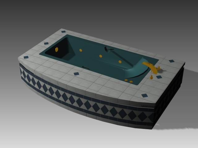 Bathroom -Bathtub 007 3D Model