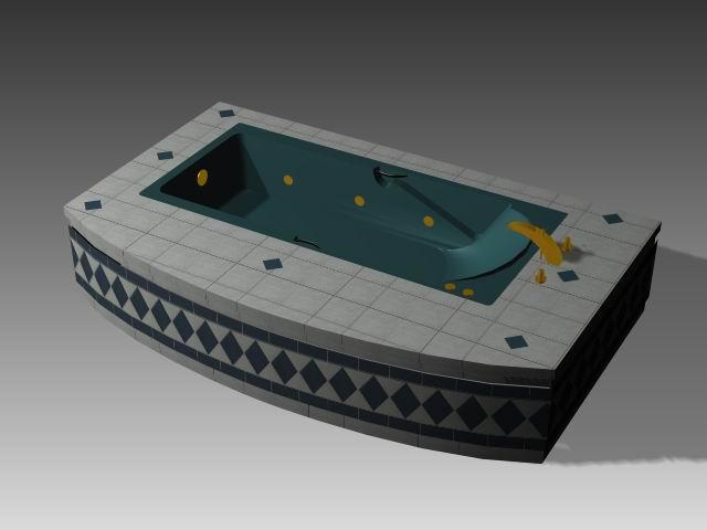 Bathroom -Bathtub 007 3D Model