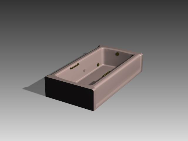 Bathroom -Bathtub 008 3D Model