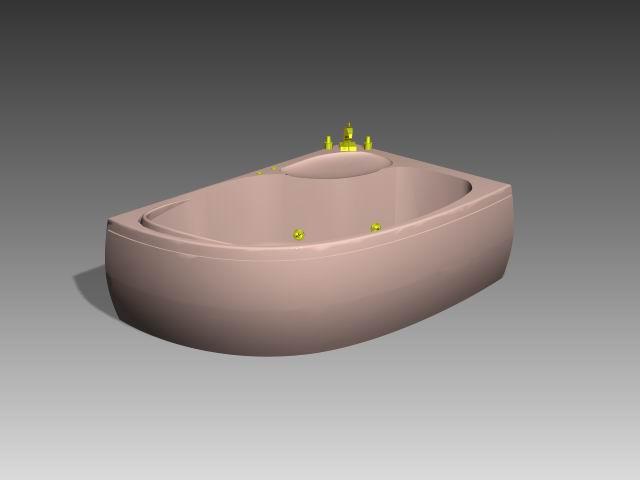 Bathroom -Bathtub 009 3D Model