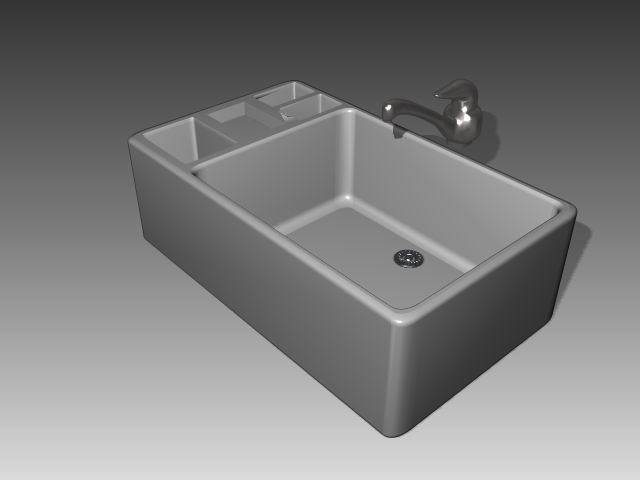 Bathroom -Bathtub 010 3D Model