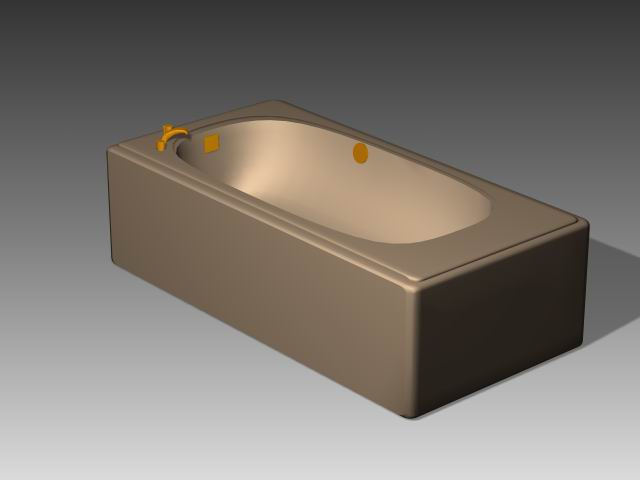 Bathroom -Bathtub 013 3D Model