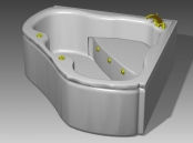 Bathroom -Bathtub 014 3D Model
