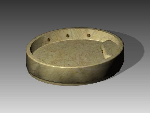 Bathroom -Bathtub 017 3D Model