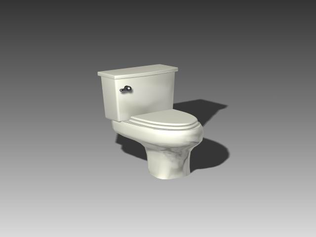 Bathroom -toilets 003 3D Model