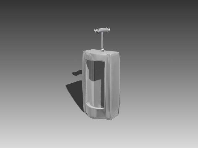Bathroom -Urinals 001 3D Model