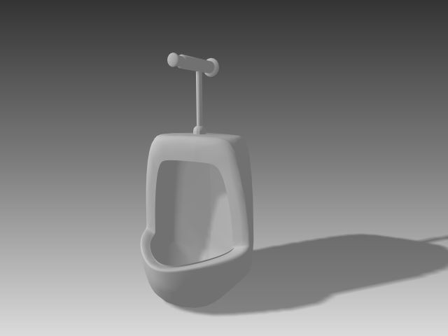 Bathroom -Urinals 003 3D Model
