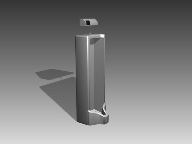 Bathroom -Urinals 004 3D Model