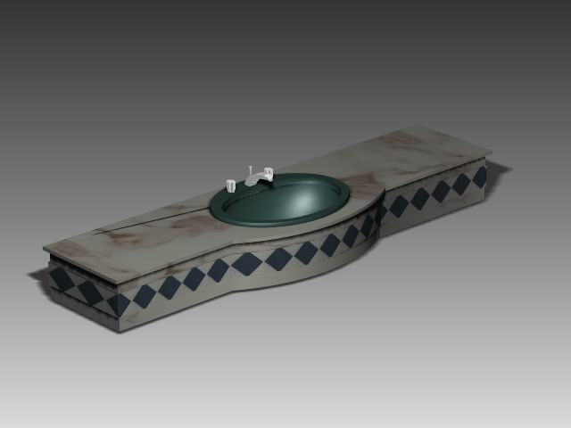 Bathroom – wash tank 004 3D Model