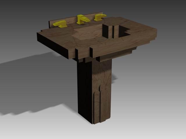 Bathroom – wash tank 006 3D Model