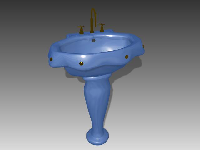 Bathroom – wash tank 008 3D Model