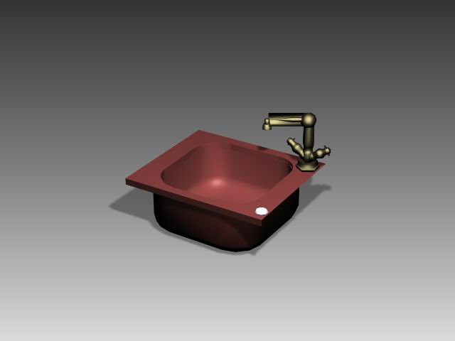 Bathroom – wash tank 009 3D Model