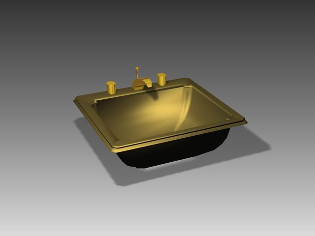 Bathroom – wash tank 011 3D Model