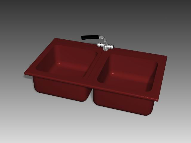 Bathroom – wash tank 018 3D Model