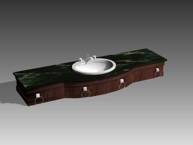 Bathroom – wash tank 019 3D Model