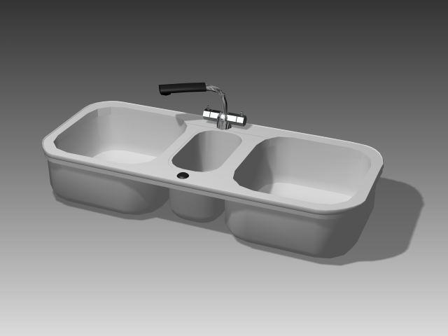 Bathroom – wash tank 024 3D Model