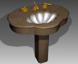 Bathroom – wash tanks 026 3D Model