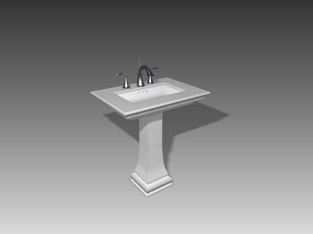 Bathroom – wash tanks 029 3D Model