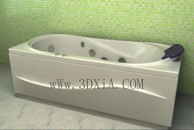 Bathtub free download-01 3D Model