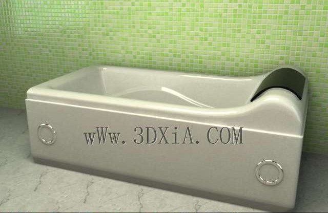 Bathtub free download-03 3D Model
