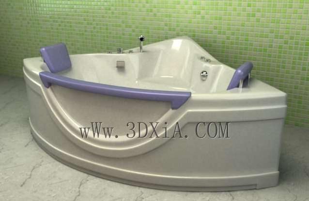 Bathtub free download-04 3D Model