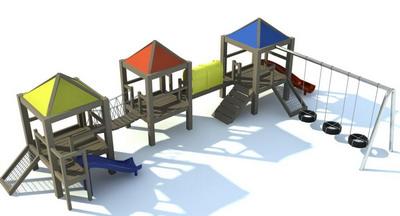 Beach leisure facilities 3D Model