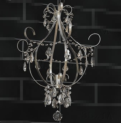 Beautiful crystal chandelier 3D Model