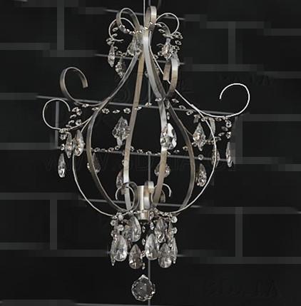 Beautiful crystal chandelier 3D Model