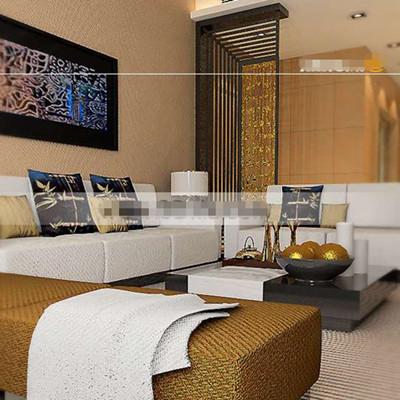 Beautiful gold embellished living room 3D Model
