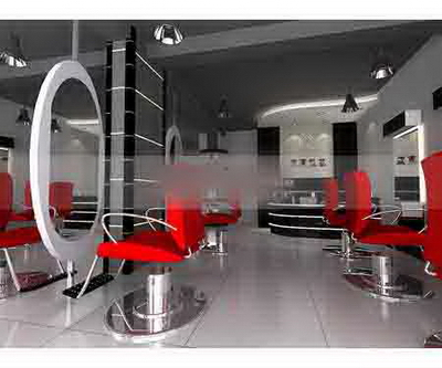 Beauty salon space model 2 3D Model
