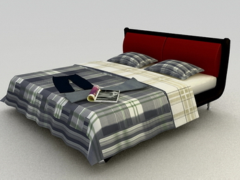 Bed soft bed 3D Model of Practical Wood Simmons