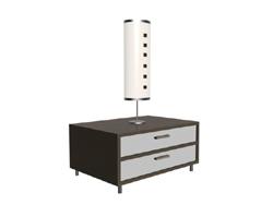Bedroom bed ark and desk lamp 3D models