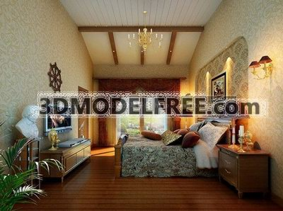 Bedroom Series: Mediterranean Style 3D Model