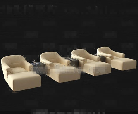 Beige casual sofa combination 3D Model