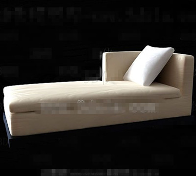 Beige comfortable single sofa chair 3D Model