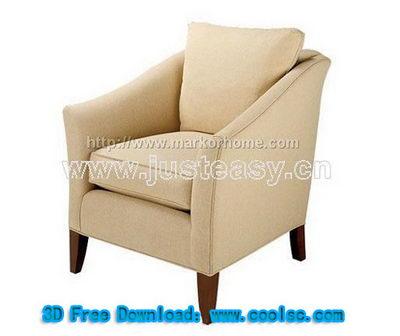 Beige sofa 3D model (including materials)