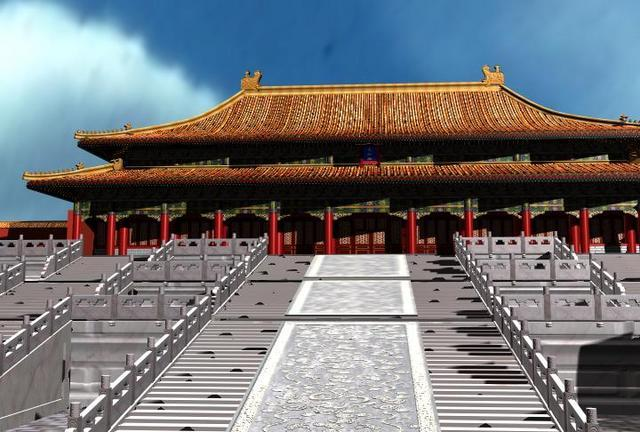 Beijing Palace Museum ancient architecture (Containing Materials) 3D Model