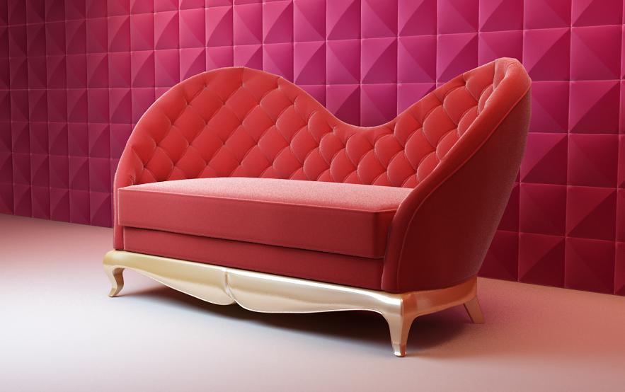 Big red sofa Bao Yang 3D Model