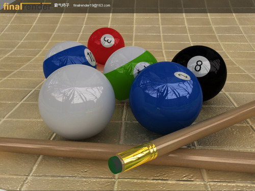 Billiards and snooker room 3D Model