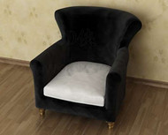 Black and casual sofa armchair 3D Model