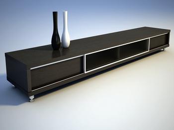 Black cabinet TV cabinet furniture, fine furniture, decoration daily life 3D model