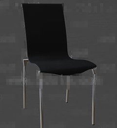 Black metal feet chairs 3D Model