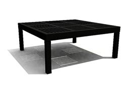 Black wood arts square table 3D models