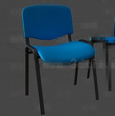 Blue fashion office chair 3D Model
