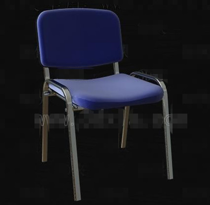 Blue Metal frame simple chair 3D Model