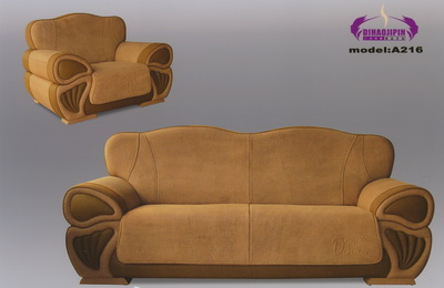 Boss orange leather sofa 3D model over