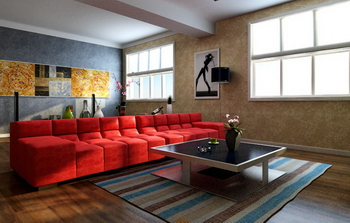 Bright and stylish living room model 3D Model