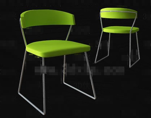 Bright green fashion simple chair 3D Model